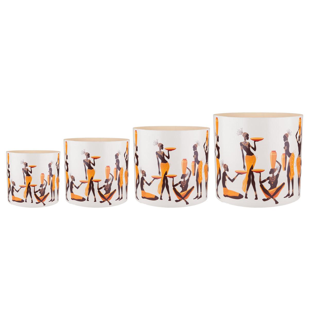 Набор горшков для цветов Miolla Африканки, со скрытым поддоном, 4 предметаSMG-SET1Набор Miolla Африканки состоит из 4 горшков со скрытыми поддонами. Горшкивыполнены из пластика и декорированы красочным рисунком. Изделия предназначены для цветов. Изделия оснащены специальными скрытыми поддонами.Диаметр горшков: 20,5 см, 16,5 см, 13,5 см, 11,5 см.Высота горшков (с учетом поддона): 19 см, 16 см, 13,5 см, 11,5 см.Объем горшков: 1 л, 1,7 л, 2,8 л, 5,1 л.