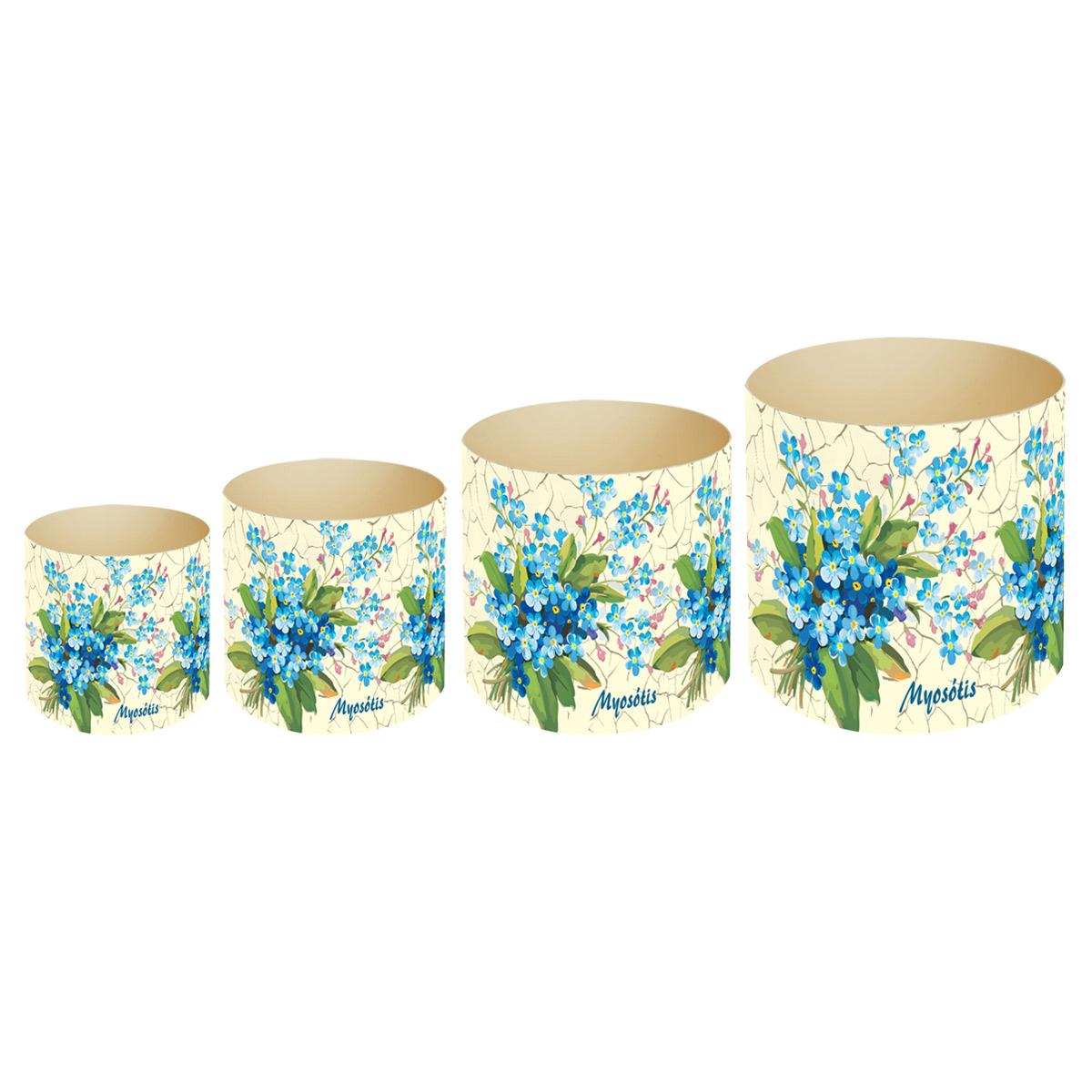 Набор горшков для цветов Miolla Прованс незабудки, со скрытым поддоном, 4 предметаSMG-SET11Набор Miolla Прованс незабудки состоит из 4 горшков со скрытыми поддонами. Горшкивыполнены из пластика и декорированы цветочным рисунком. Изделия предназначены для цветов. Изделия оснащены специальными скрытыми поддонами.Диаметр горшков: 20,5 см, 16,5 см, 13,5 см, 11,5 см.Высота горшков (с учетом поддона): 19 см, 16 см, 13,5 см, 11,5 см.Объем горшков: 1 л, 1,7 л, 2,8 л, 5,1 л.