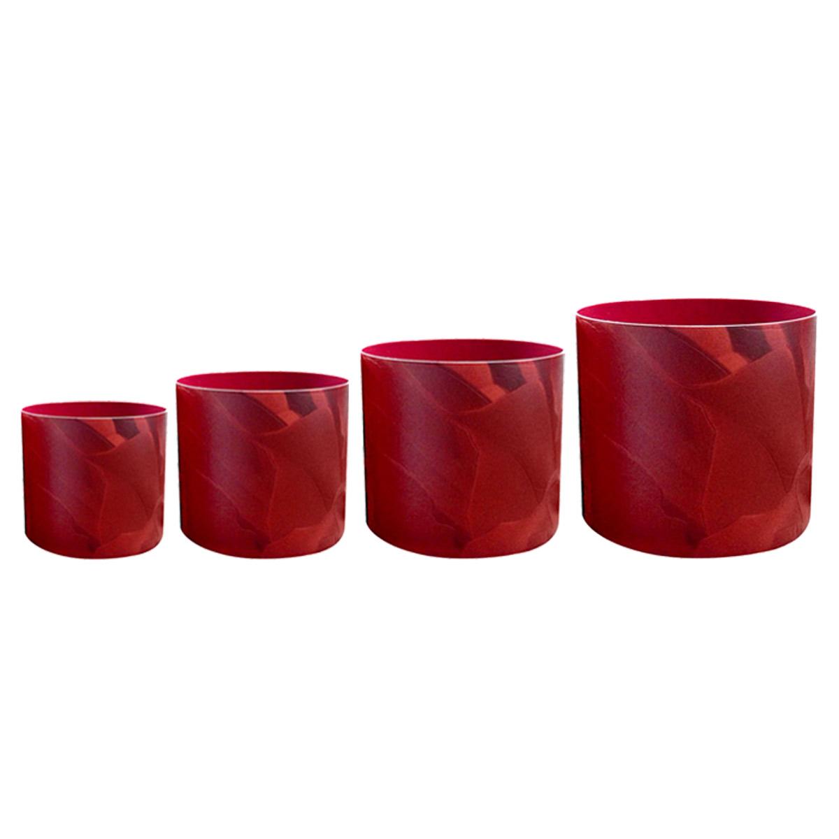 Набор горшков для цветов Miolla Красная кожа, со скрытым поддоном, 4 предметаSMG-SET21Набор Miolla Красная кожа состоит из 4 горшков со скрытыми поддонами. Горшкивыполнены из пластика. Изделия предназначены для цветов. Изделия оснащены специальными скрытыми поддонами.Диаметр горшков: 20,5 см, 16,5 см, 13,5 см, 11,5 см.Высота горшков (с учетом поддона): 19 см, 16 см, 13,5 см, 11,5 см.Объем горшков: 1 л, 1,7 л, 2,8 л, 5,1 л.