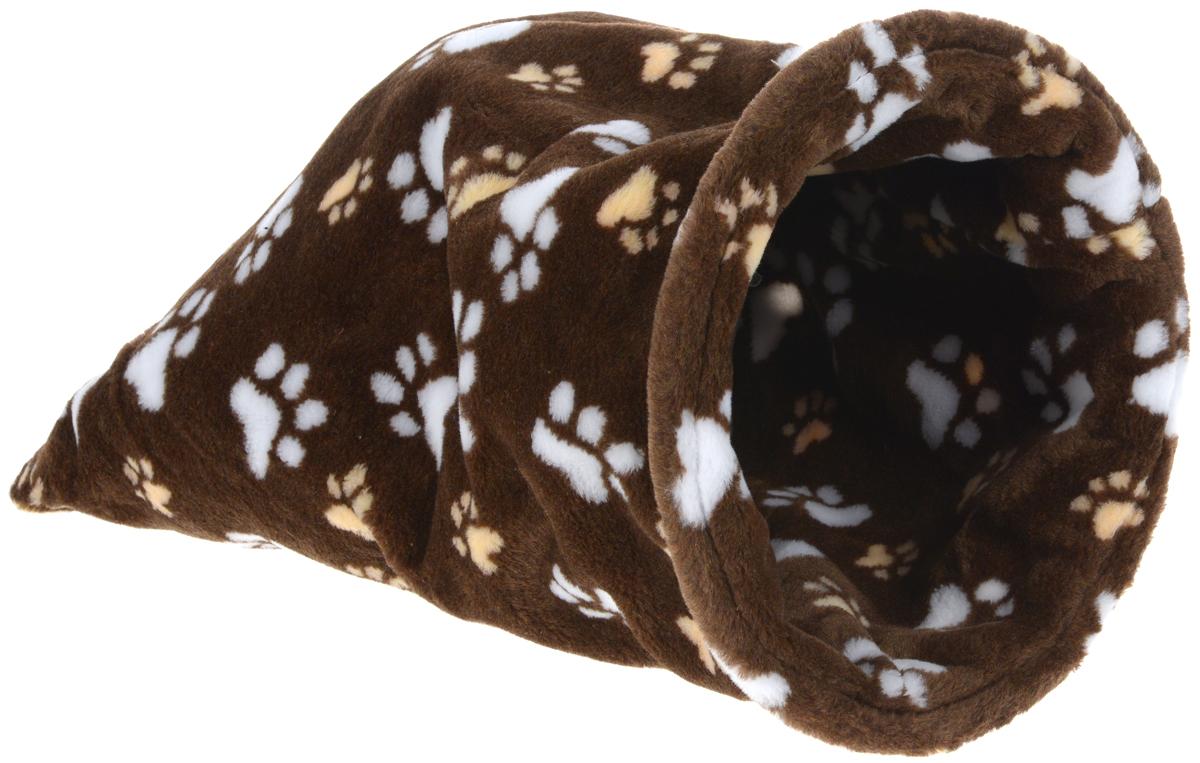 Лежак для животных Elite Valley Мешок, цвет: коричневый, белый, бежевый, 30 х 30 х 60 смЛ -18/3Необычный лежак Elite Valley Мешок станет лучшим подарком для вашего любимца. Изделие выполнено из искусственного меха и оснащен внутри металлическим кольцом.Мягкий, теплый мешок надолго привлечет внимание животного, обеспечит интересным времяпровождением, а также даст возможность прятаться внутри от холода и посторонних взглядов.