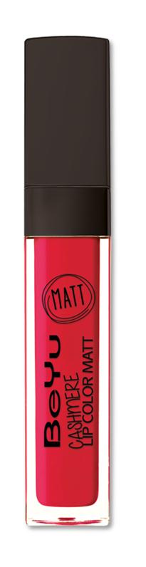 BeYu Помада для губ матовая стойкая Cashmere Lip Color Matt 56 6,5 мл3342.56Стойкая жидкая помада с матовым эффектом и нежной текстурой. Идеально держится на губах весь день, не растекается и не скатывается. Модное матовое покрытие ставит яркий акцент на улыбке, насыщенные оттенки помады усиливает эффект. Макияж губ выглядит выразительно и чувственно. Помада легко наносится благодаряю удобному закругленному аппликатору.