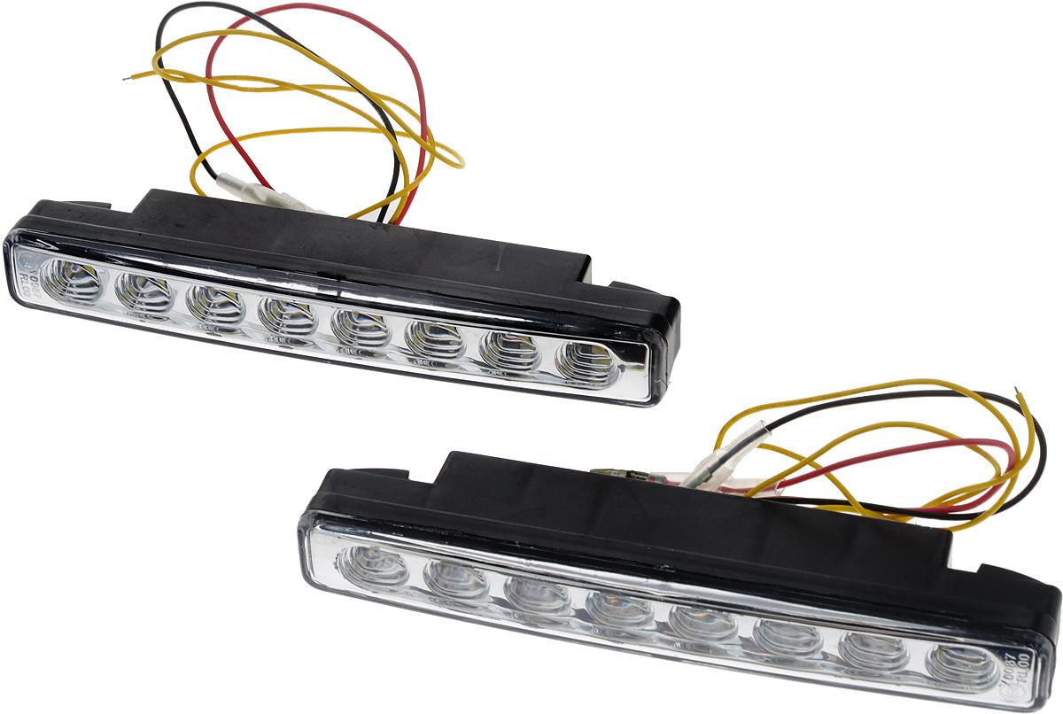 Дневные ходовые огни Nord YADA 12V, цвет: белый. 902633902633Дневные ходовые огни Nord YADA предназначены для создания хорошей видимости автомобиля на дороге с целью достижения высокого уровня безопасности движения. Особенности: - Супер яркий светодиод потребляет намного меньше энергии, чем обычная лампа, сохраняя оптимальную светоотдачу. - Привлекательный дизайн и регулируемый кронштейн, который подходит к различным моделям автомобилей. - Водонепроницаемый отражатель для любых дорожных и погодных условий.Мощность: 5 Вт . Напряжение: 12 В. Температура свечения: 5000 К (холодный белый свет). Комплектация: 2 шт.
