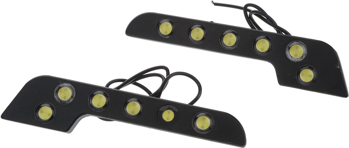 Дневные ходовые огни Nord YADA, 2 шт. 902631902631Дневные ходовые огни Nord YADA предназначены для создания хорошей видимости автомобиля на дороге с целью достижения высокого уровня безопасности движения. Особенности: - Супер яркий светодиод потребляет намного меньше энергии, чем обычная лампа, сохраняя оптимальную светоотдачу. - Привлекательный дизайн и регулируемый кронштейн, который подходит к различным моделям автомобилей. - Водонепроницаемый отражатель для любых дорожных и погодных условий.Количество светодиодов: 2 х 6. Мощность: 6 Вт . Напряжение: 12 В. Температура свечения: 5000 К (холодный белый свет). Комплектация: 2 шт.