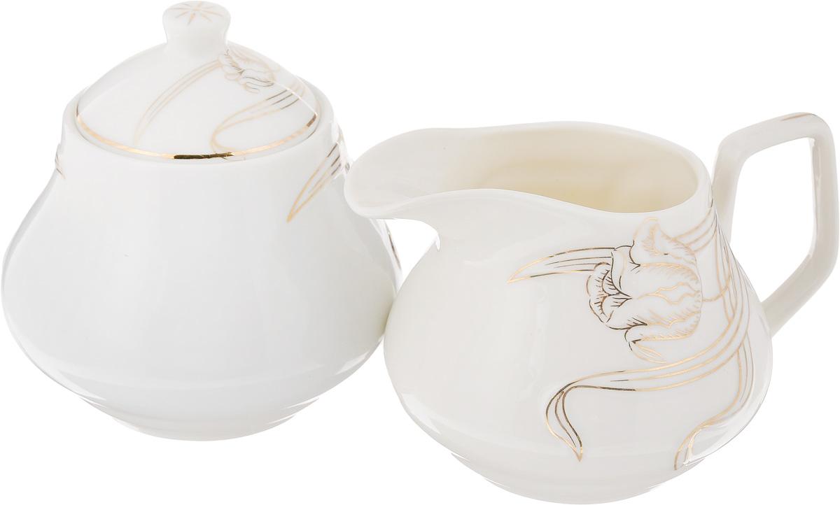 Набор чайный Briswild Лиловые каллы, 2 предмета