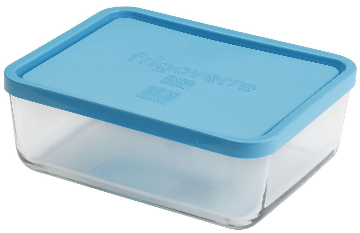 Контейнер Bormioli Rocco Frigoverre, прямоугольный, цвет: синий, прозрачный, 3000 млB335150-1Стеклянный герметичный контейнер Bormioli Rocco Frigoverre для хранения пищи. Из холодильника сразу в микроволновую печь! Выдерживает температурный удар от - 20С до +70С. Безопасен для хранения готовых продуктов. Не содержит Бисфенол А. Закаленное стекло. В 5 раз повышена ударостойкость. Устойчив к царапинам и сколам.Удобство использования. Изделие легко моется. Можно использовать в посудомоечной машине. Настоящее итальянское качество!