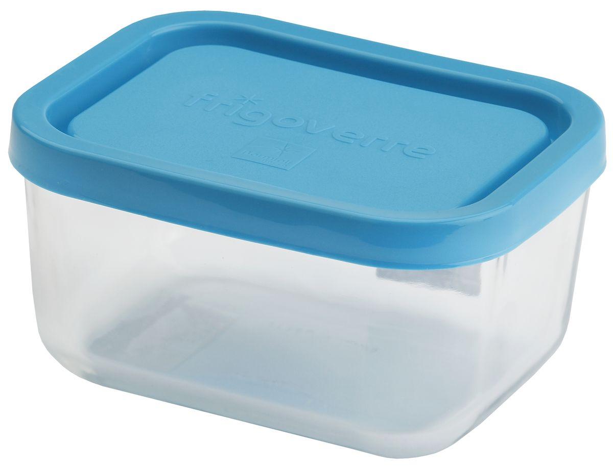 """Контейнер Bormioli Rocco """"Frigoverre"""", прямоугольный, цвет: синий, прозрачный, 1100 мл"""