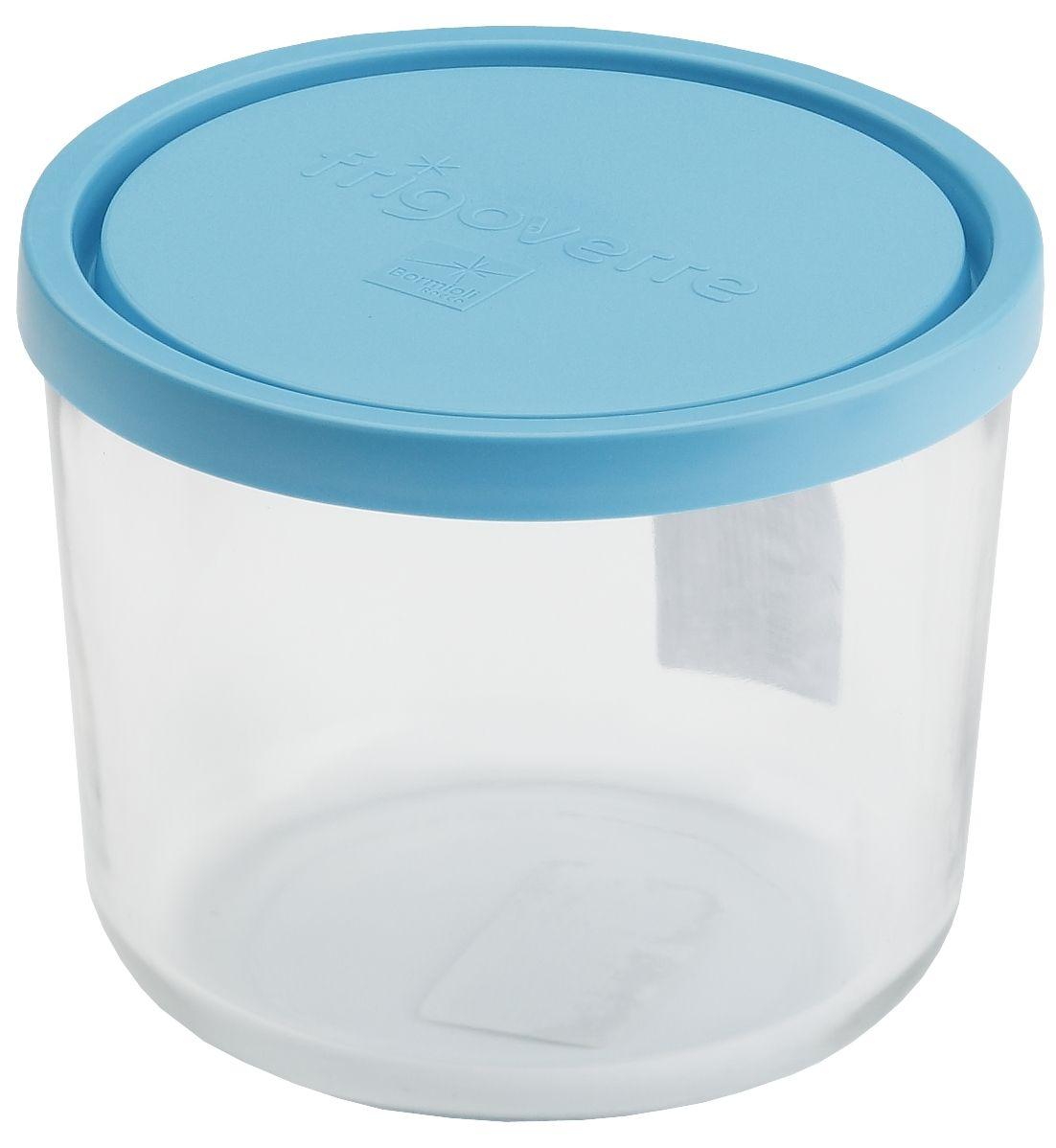 Контейнер Bormioli Rocco Frigoverre, круглый, цвет: синий, 700 млB339140-1Стеклянный герметичный контейнер с крышкой Bormioli Rocco Frigoverre для хранения пищи. Из холодильника сразу в микроволновую печь! Выдерживает температурный удар от - 20С до +70С. Безопасен для хранения готовых продуктов. Не содержит Бисфенол А. BPA Free. Закаленное стекло. В 5 раз повышена ударостойкость. Устойчив к царапинам и сколам. Удобство использования. Изделие легко моется. Можно использовать в посудомоечной машине. Настоящее итальянское качество!