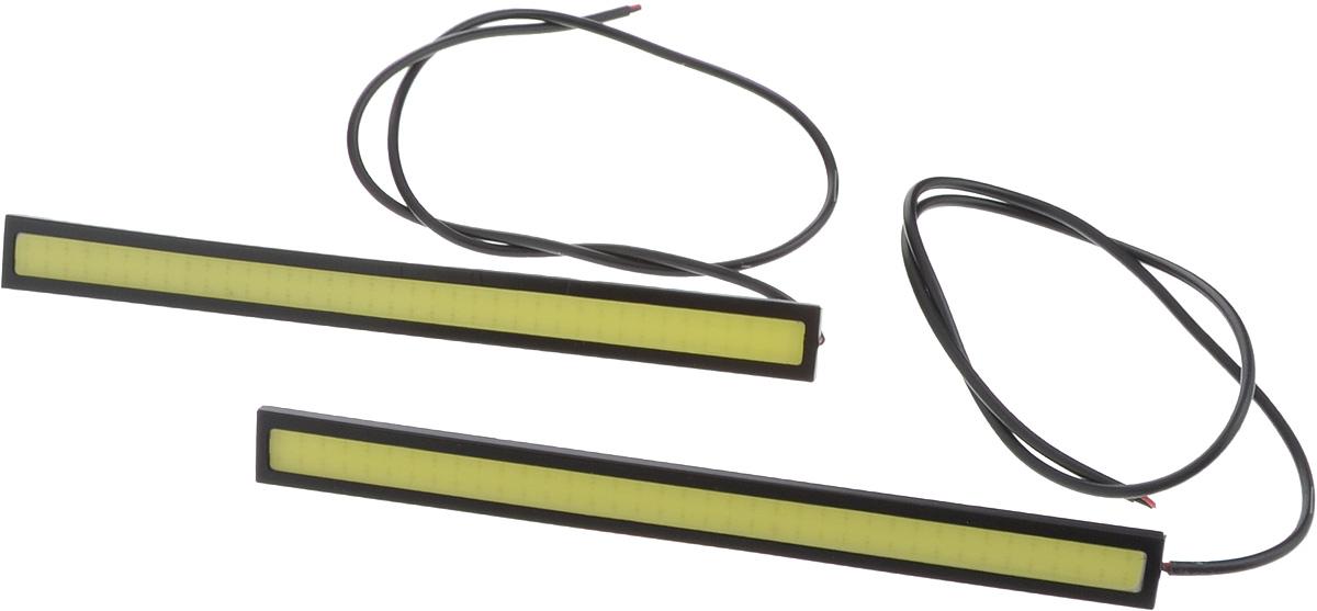Дневные ходовые огни Nord YADA, 2 шт. 904430904430Дневные ходовые огни Nord YADA предназначены для создания хорошей видимости автомобиля на дороге с целью достижения высокого уровня безопасности движения. Особенности: - Супер яркий светодиод потребляет намного меньше энергии, чем обычная лампа, сохраняя оптимальную светоотдачу. - Привлекательный дизайн и регулируемый кронштейн, который подходит к различным моделям автомобилей. - Водонепроницаемый отражатель для любых дорожных и погодных условий.Мощность: 6 Вт.Напряжение: 12В. Длина: 17 см.Комплектация: 2 шт.