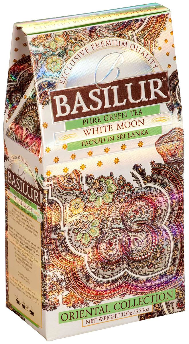 Basilur White Moon зеленый листовой чай, 100 г infiniti printer media rolling board fy 3208s fy 320h printer parts