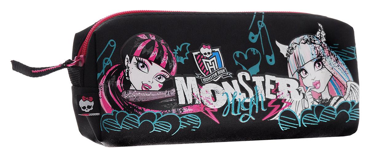 Monster High ПеналMHBB-MT1-4244Пенал на молнии Monster High прекрасно подойдет для учениц начальных классов. Он состоит из одного отделения, в которое поместятся все необходимые школьные принадлежности для письма. Дизайн пенала выполнен в стилистике популярного мультсериала с использованием изображений главных героинь. Такой пенал станет незаменимым помощником для школьниц в их учебных делах, а также придется по душе поклонницам мультфильма Школа Монстров.