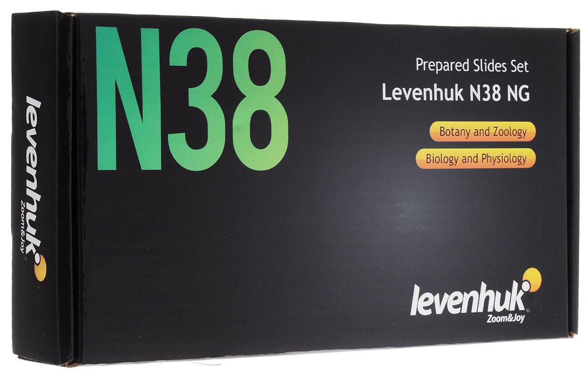 Levenhuk N38 NG набор готовых микропрепаратов levenhuk набор готовых микропрепаратов n38 ng