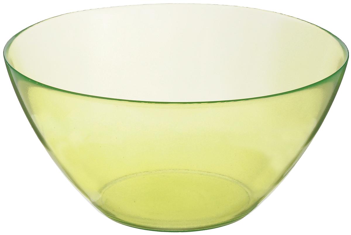 Салатник Luminarc Crazy Colors, цвет: зеленый, диаметр 28 смJ0222Великолепный круглый салатник Luminarc Crazy Colors, изготовленный из ударопрочного стекла, прекрасно подойдет для подачи различных блюд: закусок, салатов или фруктов. Такой салатник украсит ваш праздничный или обеденный стол, а оригинальное исполнение понравится любой хозяйке. Диаметр салатника (по верхнему краю): 28 см.