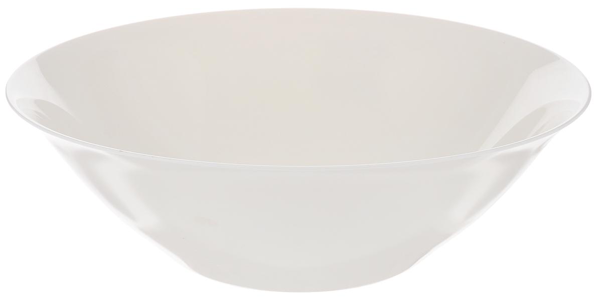 """Салатник Luminarc """"Volare"""" выполнен из ударопрочного стекла. Универсальный  дизайн легко впишется в любой интерьер. Простота форм и белоснежный цвет  выгодно подчеркнут изысканность ваших блюд.  Салатник Luminarc """"Volare"""" идеально подойдет для сервировки  стола и станет отличным подарком к любому празднику.   Можно мыть в посудомоечной машине и использовать в СВЧ.  Диаметр (по верхнему краю): 27 см. Высота салатника: 8 см."""