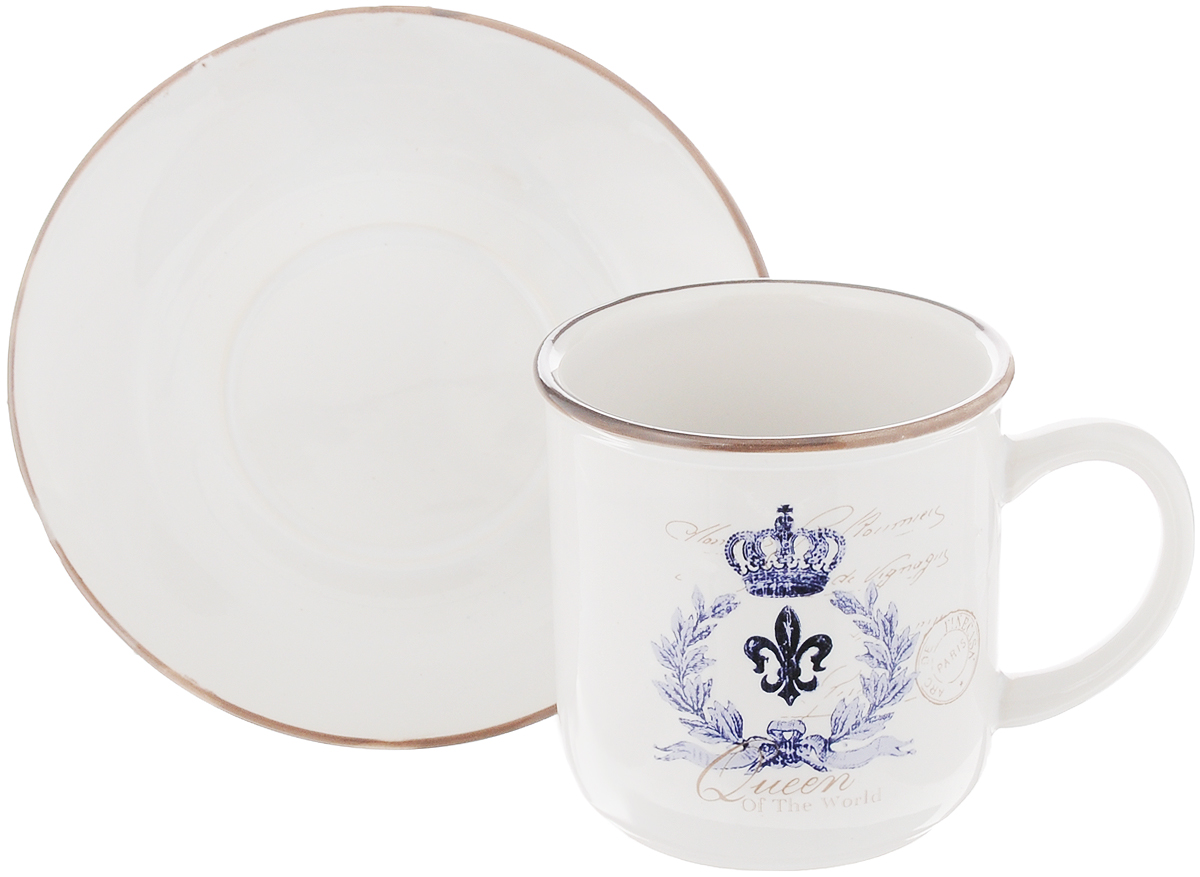 Чайная пара Королевский, 2 предметаLF-410F5763-1-ALЧайный набор Королевский, выполненный из высококачественной керамики, состоит из чашки и блюдца. Внешние стенки чашки выполнены в ярком дизайне. Чайная пара - идеальный подарок для вашего дома и для ваших друзей в праздники, юбилеи и торжества. Она также станет отличным украшением любой кухни. Можно мыть в посудомоечной машине и использовать в микроволновой печи. Объем чашки: 200 мл Диаметр чашки по верхнему краю: 8 см Высота чашки: 8 смДиаметр блюдца: 13,5 см Высота блюдца: 2 см.