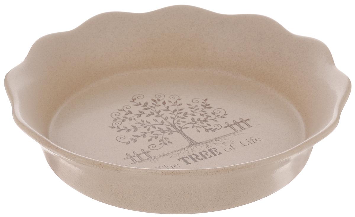 Форма для выпечки Terracotta Дерево жизни, диаметр 26 смTLY081-TL-ALФорма для выпечки Terracotta Дерево жизни изготовлена из высококачественной керамики. Керамическая посуда имеет множество преимуществ, например, отсутствие выделений химических примесей, равномерный нагрев и долгое сохранение температуры позволяют придавать особый аромат пище, сохранять витамины и другие ценные питательные вещества.Изделие идеально подходит для выпечки, приготовления различных блюд и разогревания пищи в духовом шкафу или микроволновой печи, а также для хранения продуктов, в том числе в холодильнике.Форма Terracotta Дерево жизни станет отличным дополнением к вашему кухонному инвентарю, а также украсит сервировку стола и подчеркнет ваш прекрасный вкус. Можно использовать в микроволновой печи и духовке. Допускается мыть в посудомоечной машине. Диаметр формы (по верхнему краю): 26 см.Высота формы: 5,5 см.