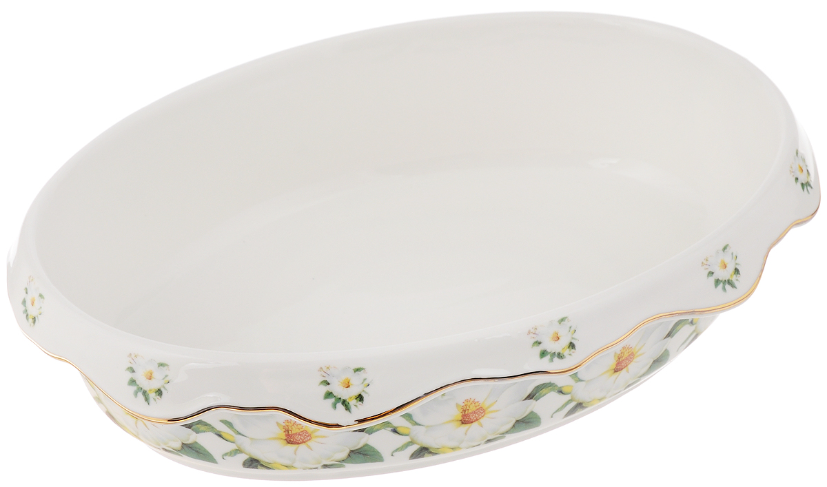 Блюдо Elan Gallery Белый шиповник, 22 х 16 х 6 см стамм лр20