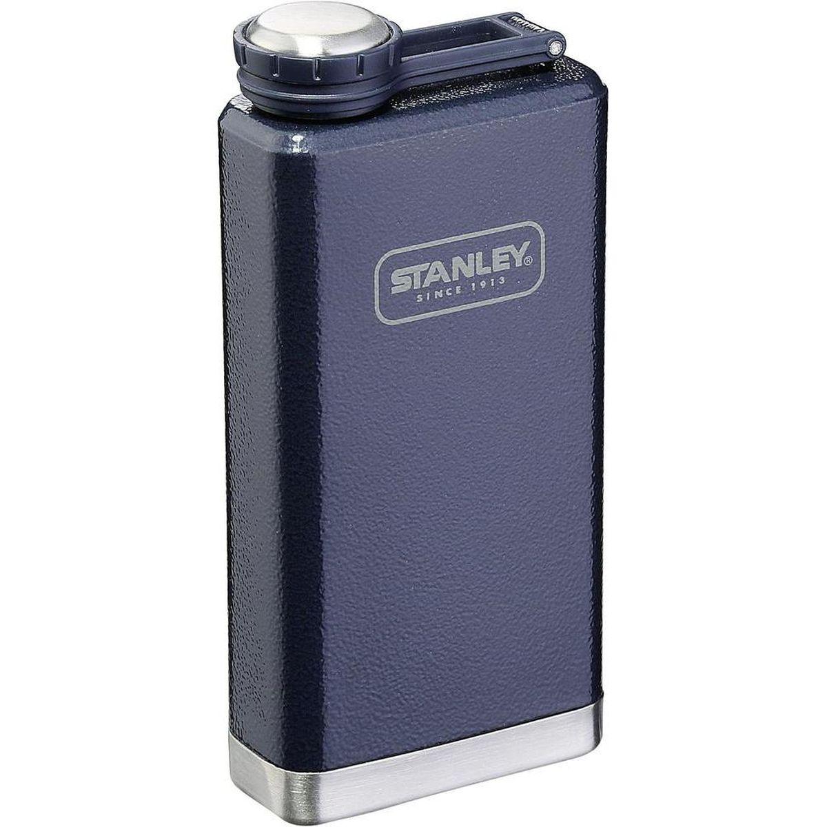 Фляга STANLEY Adventure, цвет: темно-синий, 230 мл10-01564-018Карманная фляга STANLEY Adventure выполнена из нержавеющей стали, наружное покрытие - абразивостойкая эмаль. Она очень компакта и полностью герметична.Объем: 230 мл.