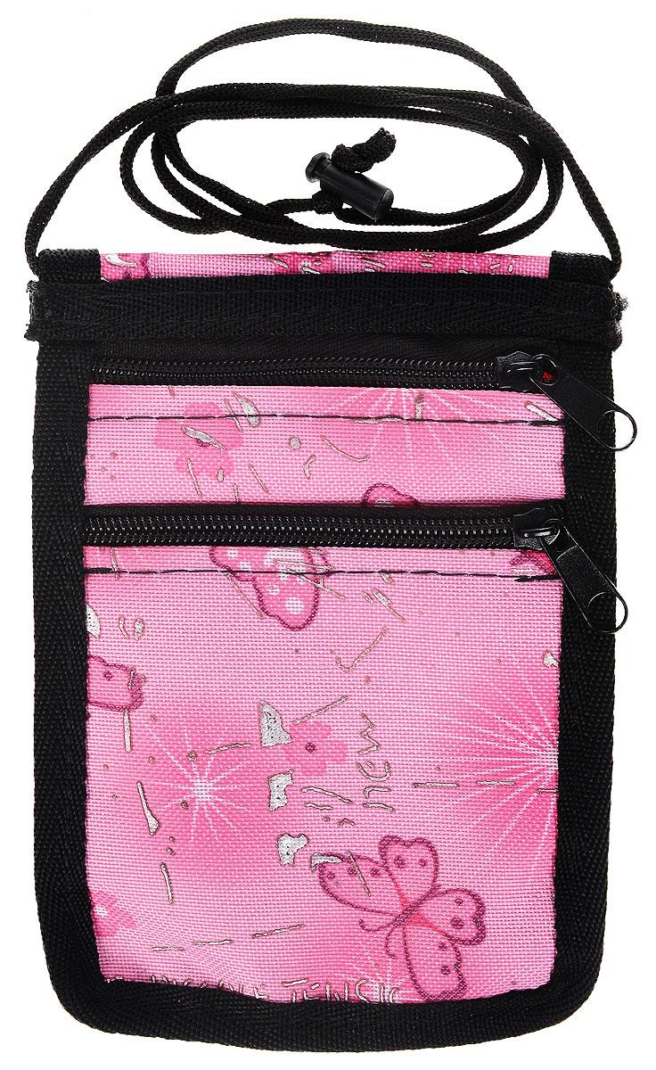 Сумочка для лакомств Elite Valley Бабочки, 12,5 х 17 смС-20_розовый, цветыСумочка Elite Valley Бабочки, выполненная из текстиля, предназначена для хранения лакомств для животных. Внешние стенки оформлены ярким изображением бабочек. Изделие имеет один прозрачный карман и два кармана, которые закрываются с помощью застежки-молнии. Также изделие оснащено текстильным шнуром со стопором. Благодаря этому сумочку можно подвесить на шею, регулируя стопором нужную длину. Сумочка Elite Valley Бабочки станет отличным аксессуаром для дрессировки, так как достать из нее поощрение для питомца не составит труда.