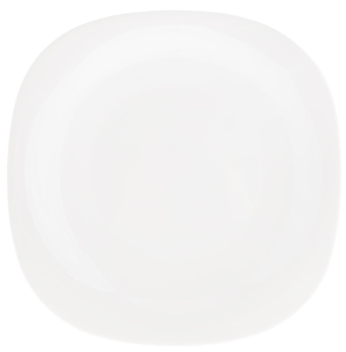 Тарелка десертная Luminarc Carine White, 19,5 х 19,5 смH3660Десертная тарелка Luminarc Carine White, изготовленная из ударопрочного стекла, имеет изысканный внешний вид. Такая тарелка прекрасно подходит как для торжественных случаев, так и для повседневного использования. Идеальна для подачи десертов, пирожных, тортов и многого другого. Она прекрасно оформит стол и станет отличным дополнением к вашей коллекции кухонной посуды. Размер тарелки: 19,5 х 19,5 х 2,5 см.