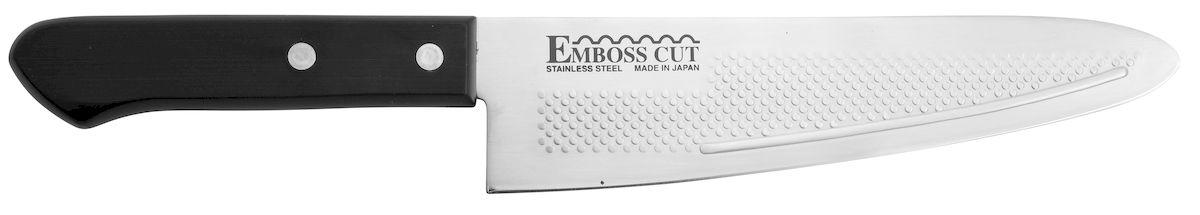 Нож поварской Tojiro Rasp Series, длина лезвия 18,5 смFC-14Поварской нож Tojiro Rasp Series изготовлен из высококачественной нержавеющей стали, обладающей высокой твердостью и устойчивостью к коррозии. К ножам Rasp Series от Tojiro продукты не прилипают. Это способствует более быстрому и комфортному приготовлению ваших любимых блюд.Правила эксплуатации: - Хранить нож следует в сухом месте. - После использования, промойте нож теплой водой и протрите насухо. - Оставление ножа в загрязненном состоянии может привести к образованию коррозии. Запрещается: - Мыть нож в посудомоечной машине. - Хранить ножи в одной емкости со столовыми приборами. - Резать на твердых поверхностях: каменных столешницах, керамических тарелках, акриловых досках. - Запрещается нецелевое использование ножа: вскрывать консервные банки, разрезать кости, скоблить твердые поверхности, резать замороженные продукты. Правка производится легкими движениями на водном камне или мусате.