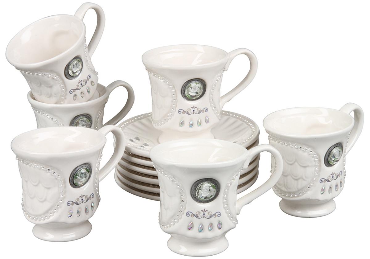 Чайный набор Rosenberg, 12 предметов. 869177.858@22858чайный набор, 12 предметов, чашка 200мл блюдце 14,5 х 14,5 см