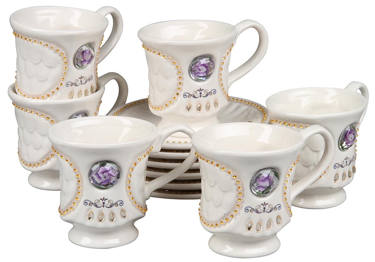 Чайный набор Rosenberg, 12 предметов. 869277.858@22859чайный набор, 12 предметов, чашка 170мл, блюдце 14 х 14 см