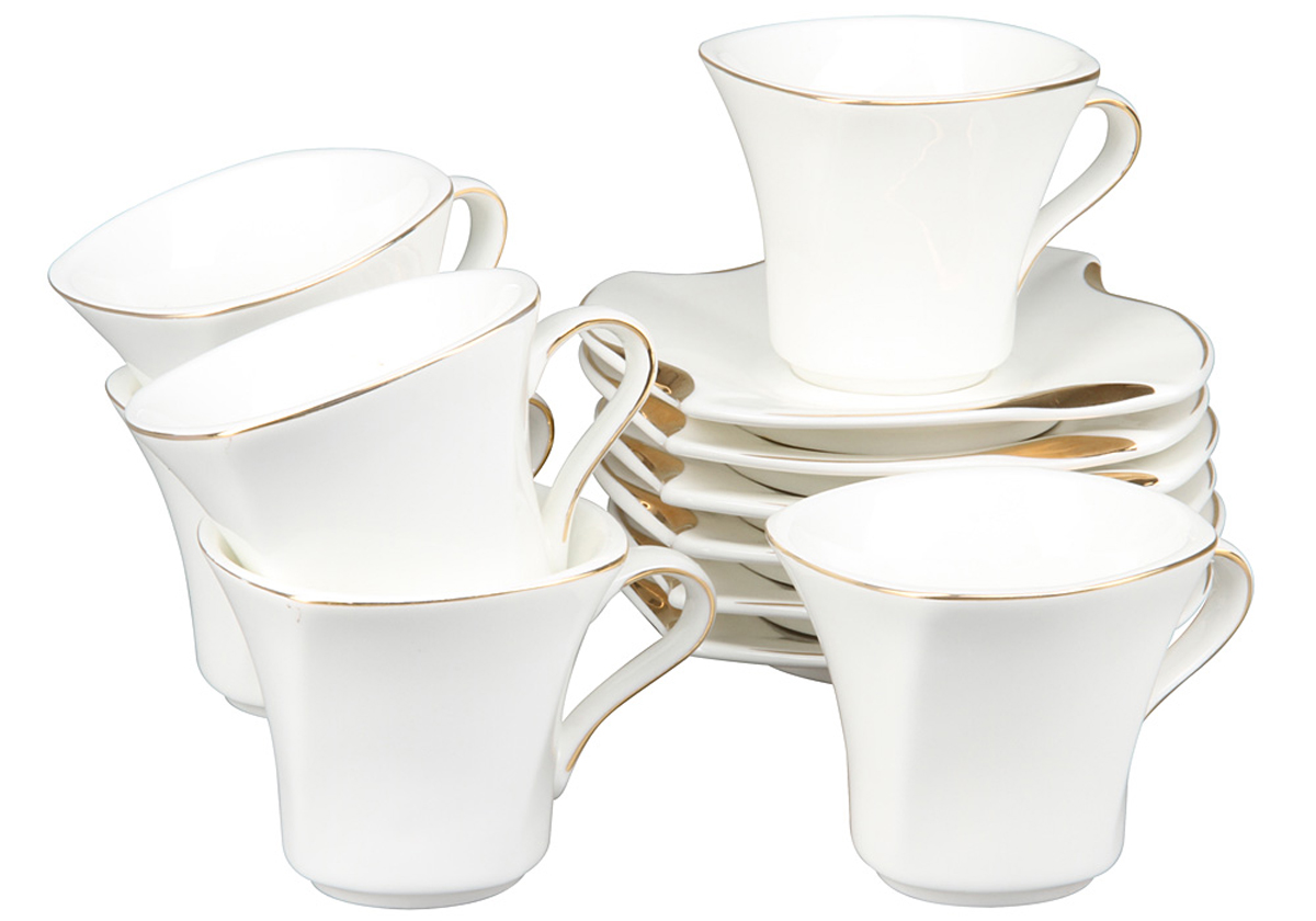 Кофейный набор Rosenberg, 12 предметов, 150мл. 871577.858@22985кофейный набор, 12 предметов, чашка 100мл блюдце 12 х 12 см