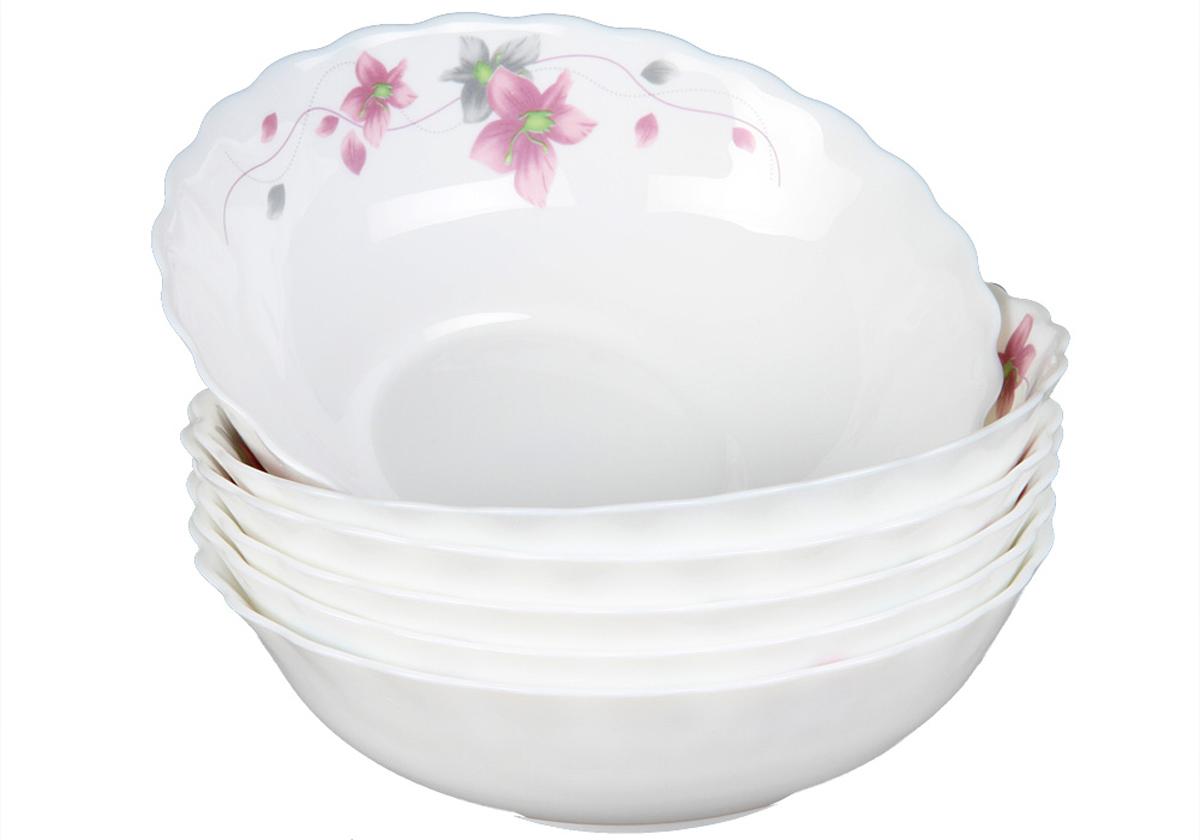 Набор суповых тарелок Rosenberg, 6шт, 18см. 1255-377.858@23030набор суповых тарелок, 6шт, диаметр тарелки 18см, ударопрочное стекло