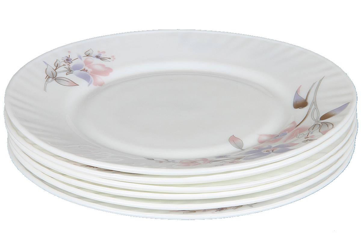 Набор плоских тарелок Rosenberg, 6шт, 20см. 1257-477.858@23033набор плоских тарелок, 6шт, диаметр тарелки 20см, ударопрочное стекло