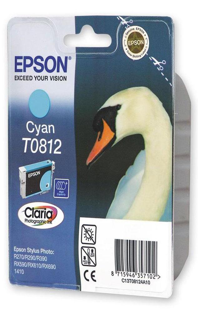 Epson T0812 (C13T11124A10), Cyan картридж для R270/TX650/T50C13T11124A10Картридж Epson T081 с чернилами для струйной печати.