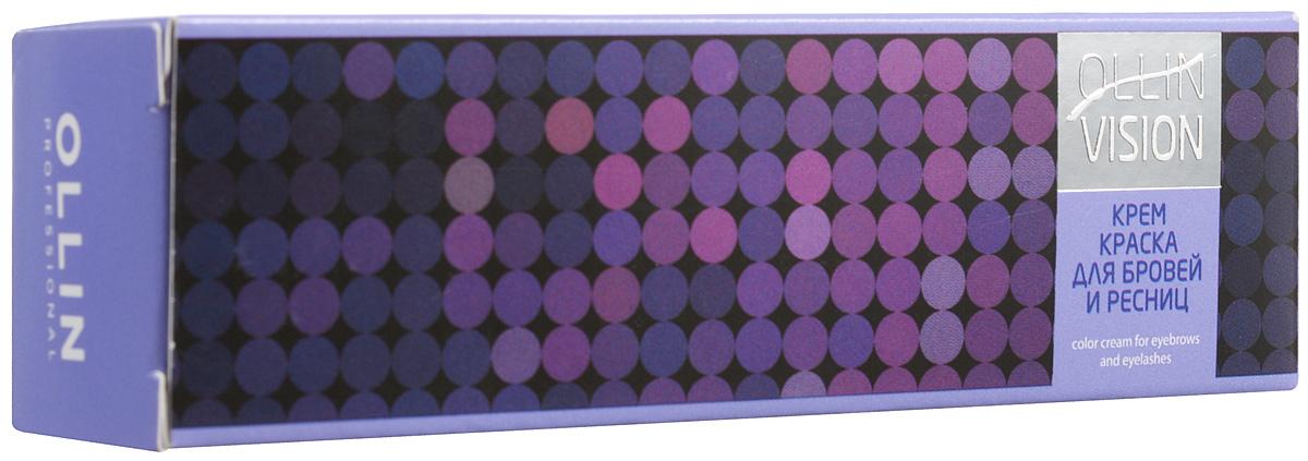 Ollin Крем-краска для бровей и ресниц (коричневый) 20 мл + салфетки под ресницы Vision Color Cream For Eyebrows And Eyelashes (Brown) 15 пар729780Крем-краска для бровей и ресниц Ollin Vizion Color Cream обеспечивает стойкий результат окрашивания бровей и ресниц. Отличные характеристики в работе. Формула на основе исключительно активных пигментов высочайшего качества гарантирует получение однородного, стойкого цвета.В комплект крем-краски для бровей и ресниц Ollin Vision входит:• Крем-краска, 20 мл.• Защитные салфетки под ресницы, 15 пар.