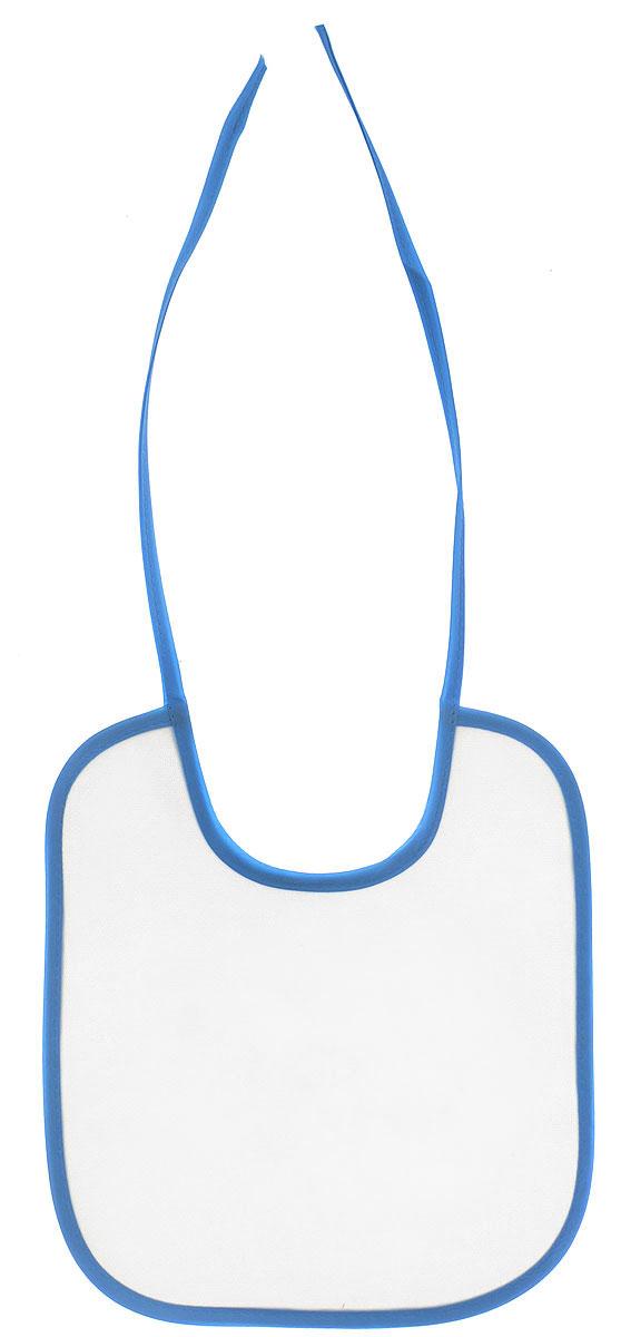 Колорит Нагрудник цвет белый голубой 20 х 22 см -  Все для детского кормления