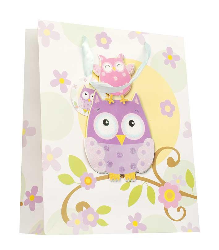 Пакет подарочный Белоснежка Милые совы, 18 х 24 х 8 см1402-SBПодарочный пакет Милые совы выполнен из качественной плотной бумаги с хорошей печатью, объемные элементы на пакете придают дополнительный яркий акцент.