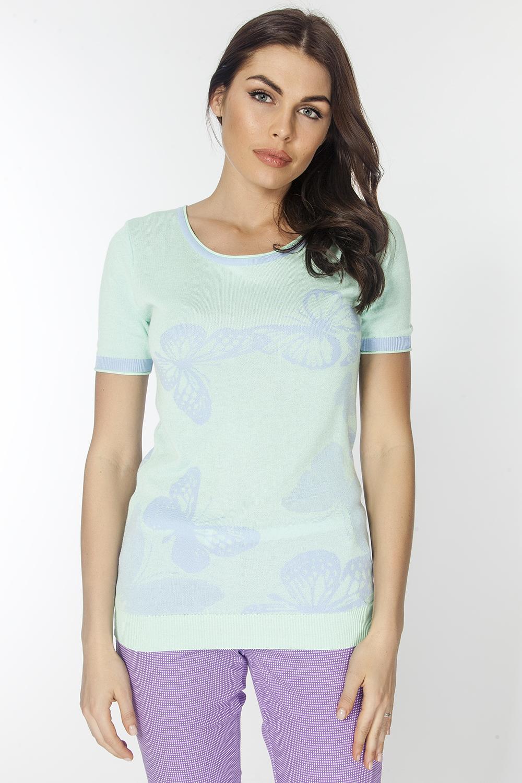 Джемпер женский Vis-A-Vis, цвет: светло-зеленый. VIS-0285V. Размер XL (50) джемпер женский vis a vis цвет светло зеленый vis 0289 размер xl 50