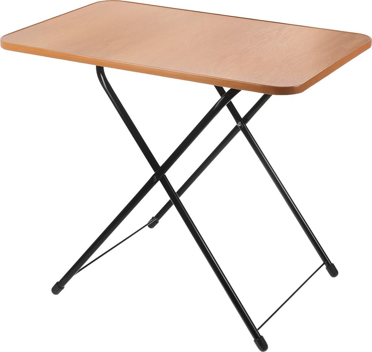 Стол складной Wildman, 75 х 50 х 62 см81-574Стол Wilman со складными ножками идеально подойдет для пикника,туристического похода или дачи. Каркас выполнен из высококачественной стали. Столешница из ЛДСП.Благодаря складным ножкам он занимает немного места и его легко перевозить вбагажнике. Высота стола регулируется в 2 положениях. Пластиковые накладки на ножках не царапает поверхность. Размер столешницы: 75 х 50 см. Максимальная высота: 62 см. Минимальная высота: 50 см.