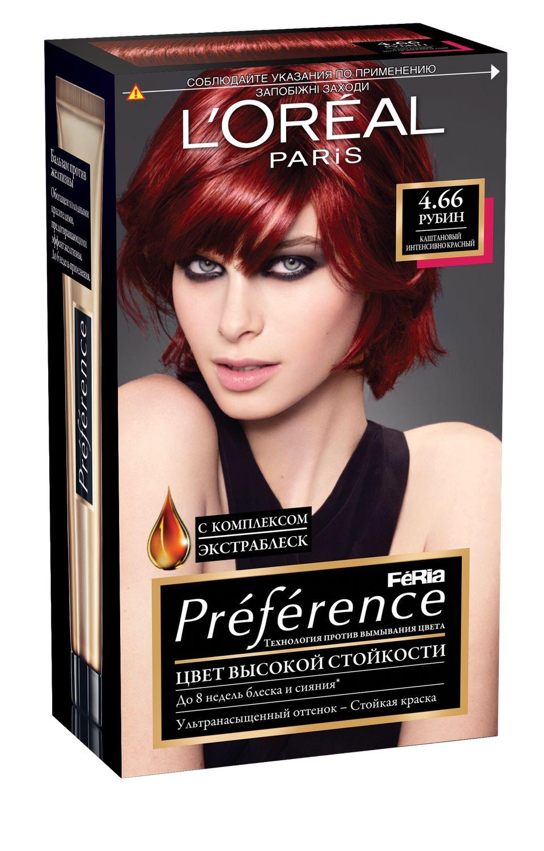 """L'Oreal Paris Стойкая краска для волос """"Preference Feria"""", оттенок, 4.66 Рубин"""