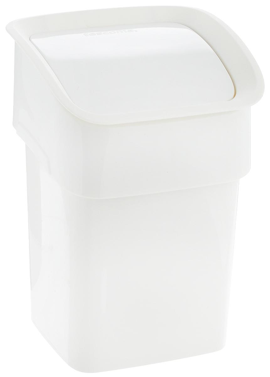 """Контейнер для мусора Tescoma """"Clean Kit"""" изготовлен из  высококачественного прочного пластика. Такой аксессуар очень удобен в  использовании как дома, так и в офисе. Контейнер снабжен  удобной крышкой с подвижной перегородкой.  Стильный дизайн сделает его прекрасным украшением  интерьера. Можно мыть в посудомоечной машине."""