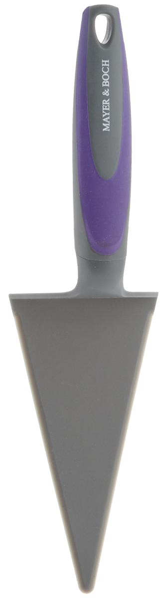 Лопатка для пиццы Mayer & Boch, цвет: серый, фиолетовый, длина 30 см23143_серый, фиолетовыйЛопатка для пиццы Mayer & Boch треугольнойформы отлично подходит для раскладывания кусочковпиццы, пирога или торта. Рабочая часть лопаткивыполнена из высококачественного полипропилена, ручкаизготовлена из прочного пластика с нейлоновымивставками. На рукоятке имеется петелька дляподвешивания.Лопатка Mayer & Boch станетотличным дополнением к коллекции ваших кухонныхаксессуаров.Длина лопатки: 30 см.Размер рабочей поверхности: 15,5 х 7,5 см.