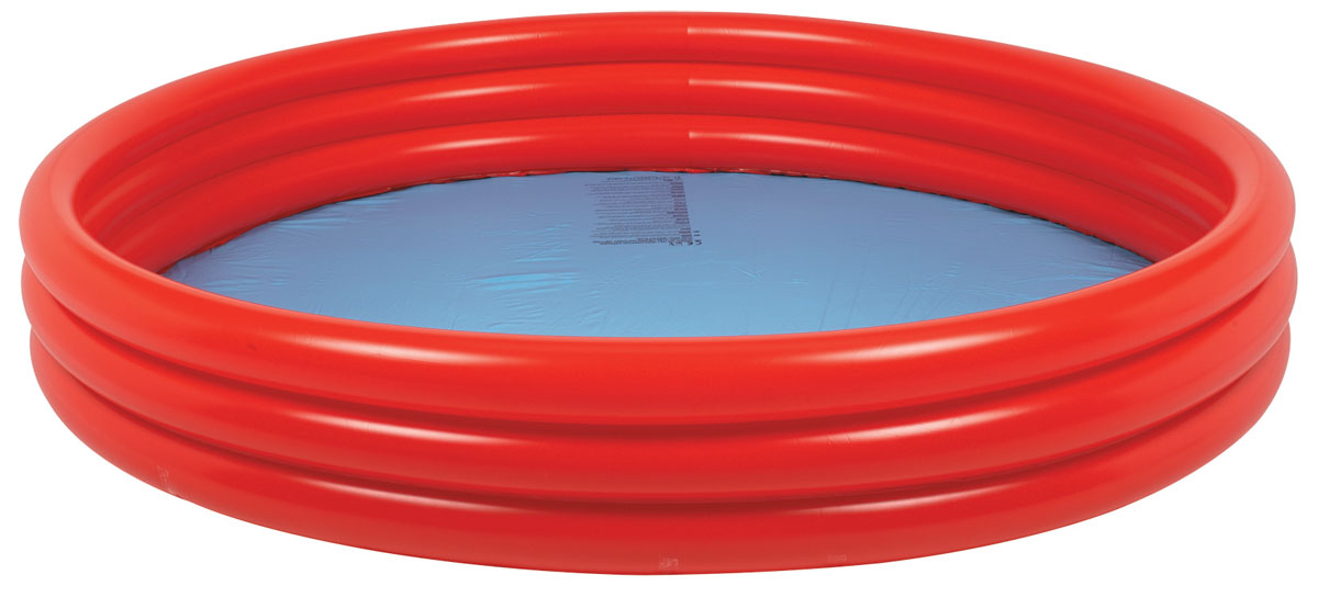 Бассейн надувной Jilong Plain Pool, детский, цвет: голубой, красный, 157 х 157 х 25 смJL010304-1NPF_голубой, красныйДетский надувной бассейн Jilong Plain Pool будет просто незаменим в летний жаркий день на даче. Бассейн круглой формы выполнен из прочного ПВХ. Упругие стенки бассейна представляют собой три прочных кольца. Яркий дизайн бассейна сделает его не только незаменимыматрибутом летнего отдыха, но и дополнением ландшафтного дизайна участка.Рекомендуемый возраст: 3-6 лет. Рекомендуемый вес пользователя: 15-30 кг. Обращаем ваше внимание на тот факт, что бассейнпоставляется в сдутом виде и надувается при помощи насоса (не входит в комплект). Диаметр: 157 см. Высота: 25 см. Объем бассейна: 300 л.