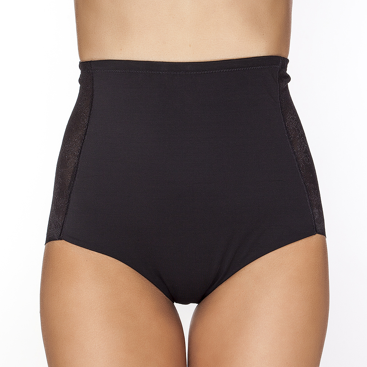 Купить Трусы-макси женские Vis-A-Vis, корректирующие, цвет: черный. DU1028. Размер XXXL (54)