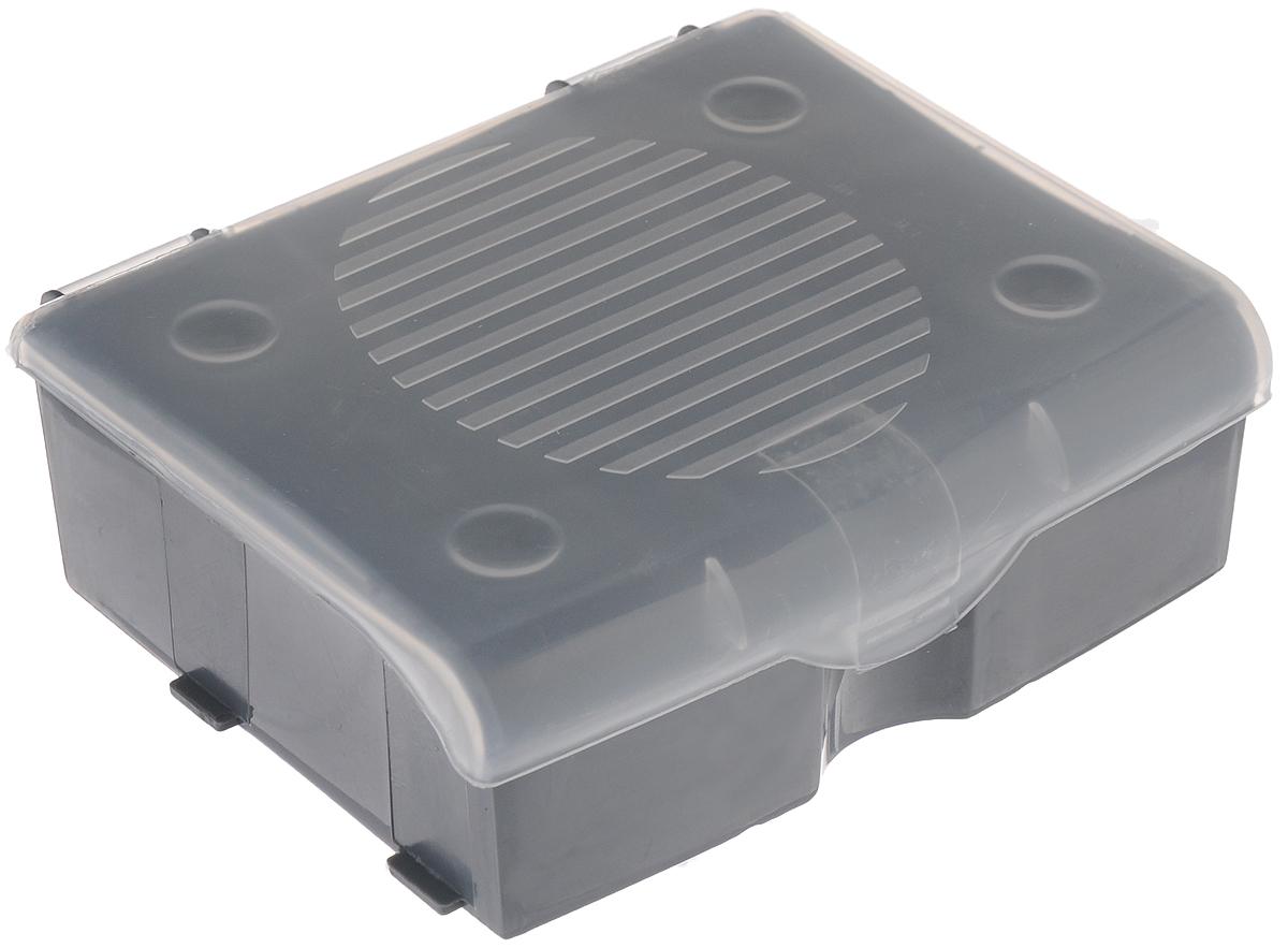 Органайзер для мелочей Blocker, цвет: серый, прозрачный, 11 х 9 х 4,2 см органайзер blocker hobby box цвет салатовый черный 29 5 х 18 х 9 см