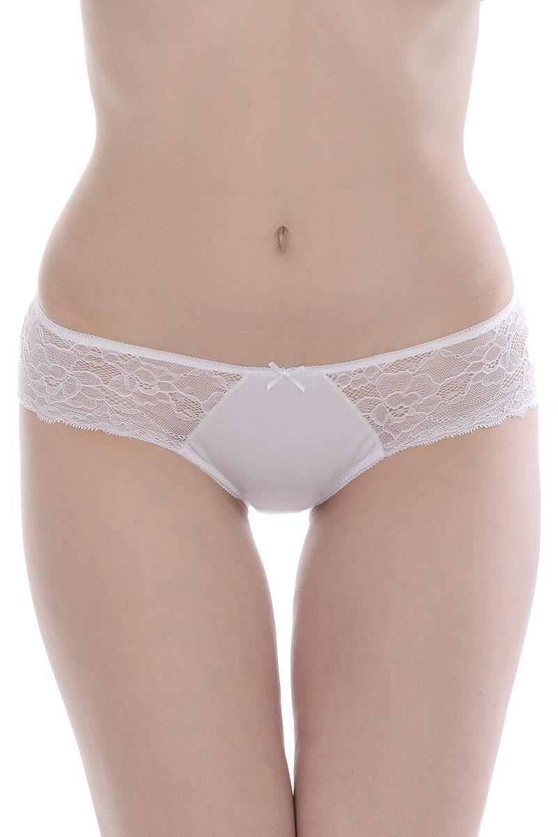 Трусы женские Vis-A-Vis, цвет: белый. DS1129. Размер XL (50)DS1129Изящные трусики-слипы из высококачественного хлопка с эластаном, декорированы нежным кружевом.