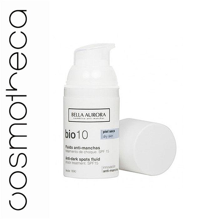 Bella Aurora Флюид для лица, выравнивающий тон кожи SPF 15 30 млBA4093426Анти-пигментный флюид Bio10 Bella Aurora является наиболее эффективным средством от пятен для сухой кожи. Высокая концентрация депигментирующих компонентов, которые действуют во всех 7 механизмах процесса депигментации кожи, позволяет бороться с пятнами различного происхождения. Флюид уменьшает и устраняет существующие темные пятна и предотвращает появление новых.Хорошо увлажняет кожу, обладает антивозрастными свойствами и предотвращает потерю эластичности и упругости кожи.Насыщенная и обволакивающая текстура, мгновенно тает на коже, обеспечивая состоянии глубокого комфорта.Солнцезащитные фильтры SPF15.