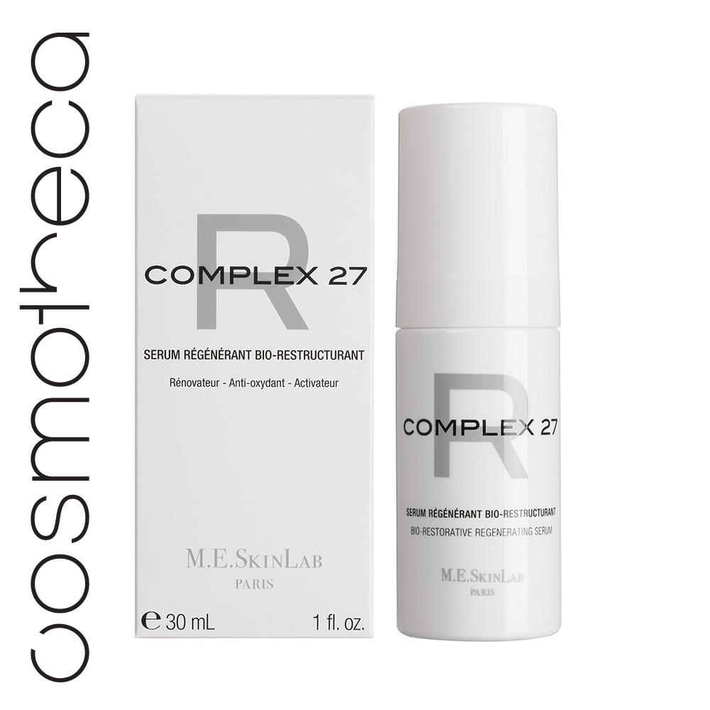 Cosmetics 27 Био-востанавливающая регенерирующая сыворотка Complex 27 R 30 млCM27012• Восстанавливает кожу, возвращает ей плотность• Обновляет и восстанавливает кожные ткани• Защищает от окисления и свободных радикалов• Стимулирует синтез коллагена и гликозаминогликанов• 52% концентрированных активов• 95% натуральных ингредиентов, без парабенов ИСПОЛЬЗОВАНИЕ• Потеря тонуса и упругости• На коже есть морщины, вызванные сухостью• Кожа испытывает дискомфорт, имеются особо сухие участки, покраснения РЕЗУЛЬТАТЫ:• Кожа снова в тонусе, сияющая и плотная• Кожа сбалансирована и вновь способна противостоять окислительному стрессу• Кожа более упругая и гладкая, морщин заметно меньше • Коже более комфортно, она выглядит здоровой на вид