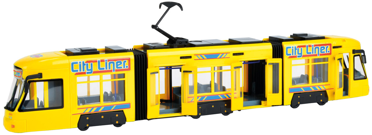 Dickie Toys Трамвай City Liner цвет желтый dickie toys городской трамвай