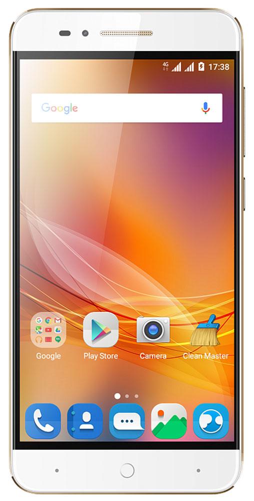 ZTE Blade A610, GoldZTE BLADE A610 GOLDЗадняя крышка смартфона ZTE Blade A610 изготовлена из авиационного алюминия, что добавляет устройству дополнительную механическую прочность, подчеркивает стильный минималистичный дизайн гаджета, а также повышает эффективность охлаждения при запуске ресурсоемких приложений и игр.Смартфон может похвастаться огромной емкостью батареи – 4000 мАч, что позволит вам совершать звонки, пользоваться интернетом, читать, фотографировать и делиться информацией с друзьями в течение нескольких дней без дополнительной подзарядки.Наличие большого 5-дюймого HD-дисплея с разрешением 1280х720, выполненного по технологии IPS, предоставляет возможность пользователю комфортно просматривать интернет-страницы, читать электронные книги и смотреть медиа-контент без потери качества изображения и цветопередачи.Поддержка в смартфоне технологии On-The-Go и повышенная емкость батареи предоставляет вам возможность не только самому наслаждаться беспрерывной работой смартфона, но и подзаряжать от него внешние устройства, такие как музыкальный плеер, электронная книга, планшет и многое другое, а также подключать напрямую внешние накопители и копировать данные.Смартфон работает на базе новой операционной системы Android 6.0, которая получила ряд функций, играющих важнейшую роль в работе смартфона – оптимизаторы энергопотребления, расширенные возможности безопасности, обновленный интерфейс и др. Четрырехъядерный процессор MediaTek MT6735 и 2 ГБ оперативной памяти обеспечивают скорость в обработке повседневных задач и плавную работу приложений и игрового процесса.Основная камера 13 Мпикс, оснащенная вспышкой, позволит вам делать отличные снимки даже при низком освещении, а наличие фронтальной камеры с разрешением 5 Мпикс, оценят поклонники четких селфи и любители видеозвонков.Наличие в смартфоне технологии 4G LTE значительно увеличивает скорость и качество мобильного интернета, позволяя всегда оставаться онлайн и комфортно взаимодействовать с интернет-ресурсами.Смар