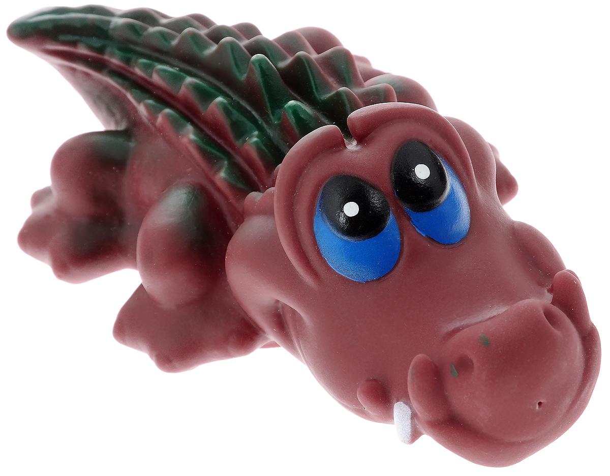 Игрушка для собак Каскад Крокодил, длина 15 см игрушка для животных каскад мячик пробковый цвет зеленый 3 5 см