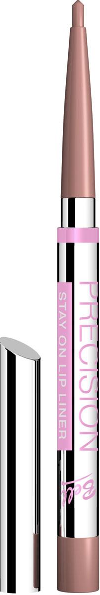 Bell Карандаш для губ Устойчивый Precision Lip Liner 0,2 грB5kuP007Автоматически, точно, идеально! Precision это изысканная коллекция автоматических контурных карандашей для макияжа глаз и губ. Нанесение точного контура теперь стало необычайно простым! Результат - идеальный устойчивый макияж, ошеломляющий своей красотой и чувственностью!Для четких, мягких линий, эффектного макияжа и ровного стойкого результата!Особенности состава: Инновационные полимеры, входящие в состав, обеспечивают особую эластичность грифеля, что гарантирует точность и устойчивость нанесенных линий. Входящий в состав ланолин и специальный растительный воск ухаживает за нежной кожей губ, а силиконовые микрошарики гарантируют мягкое и комфортное нанесение.Способ применения: Выкрутить грифель на необходимую длину, обвести контур губ. Также можно растушевать на всю поверхность губ для того, чтобы цвет помады держался дольше