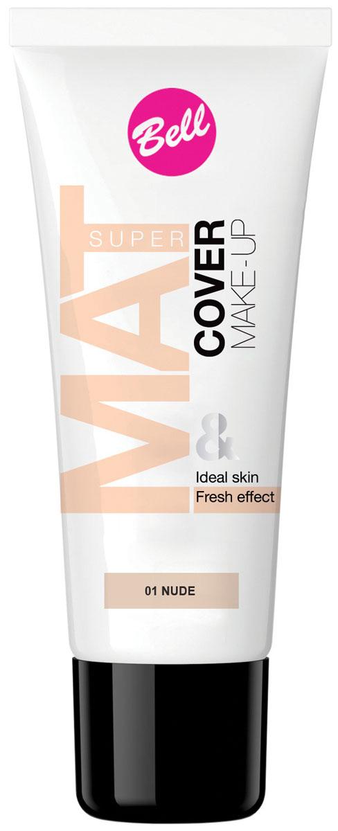 Bell Флюид матирующий тональный, Стойкий Эффект Super Mat Cower Make-up Foundation Тон 1, 30 грBflSM001Обеспечивает матовый макияж в течение всего дня. Эффективно скрывает недостатки кожи, гарантируя свежий и здоровый тон лица. Матовый стойкий макияж в течение всего дня. Особенности состава: Содержит комплекс активных витаминов C и E, которые ухаживают и увлажняют кожу. Способ применения: Нанести тонким слоем на кожу лица