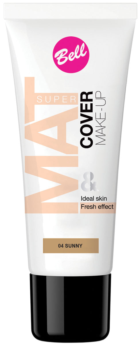 Bell Флюид матирующий тональный, Стойкий Эффект Super Mat Cower Make-up Foundation 30 грBflSM004Обеспечивает матовый макияж в течение всего дня. Эффективно скрывает недостатки кожи, гарантируя свежий и здоровый тон лица. Матовый стойкий макияж в течение всего дня. Особенности состава: Содержит комплекс активных витаминов C и E, которые ухаживают и увлажняют кожу. Способ применения: Нанести тонким слоем на кожу лица